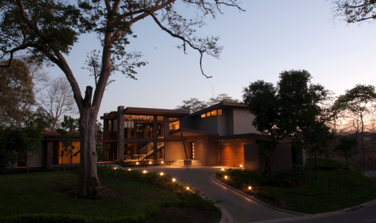 Braheem Residence exterior entry night